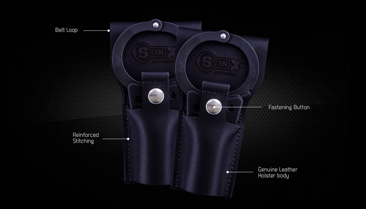 S-TEN genuine leather handcuff Holsters